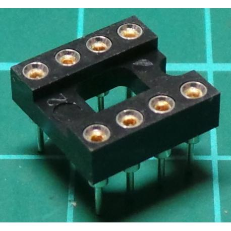 IC DIL Socket, 8 Pin, Turned Contacts