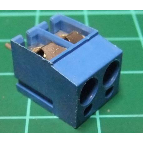 PCB Terminal Screw x2, Right Angle Exit, ?A