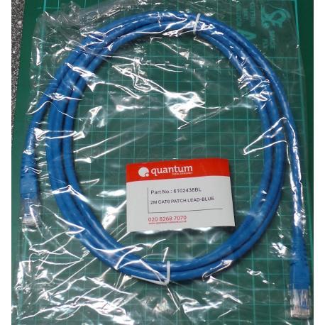 RJ45 Patch Lead, CAT6, Blue, 3m