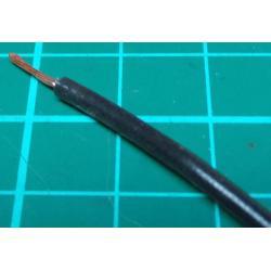 22AWG, 0.5mm2, Stranded, PVC, 105deg, Black