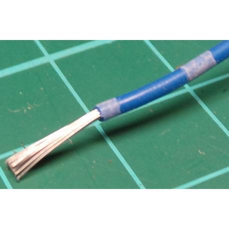 20AWG, 0.75mm2, Stranded, PVC, 105deg, Blue / White