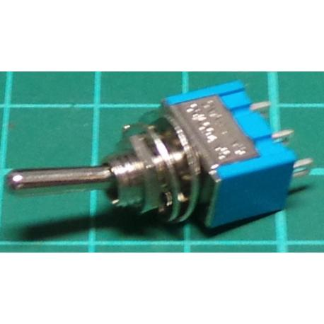 Switch SP3T Toggle, 250V, 3A