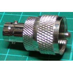 UHF Plug to BNC Socket, Adaptor