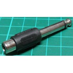 6.35mm Mono Plug to RCA Socket, Adaptor