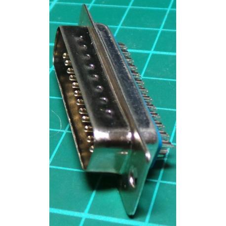 D Type, 25 Pin, Male, Solder Bucket