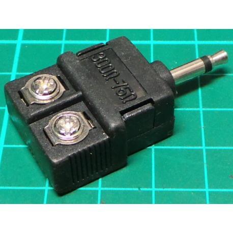 6.3mm mono plug to 2 x 6.3mm sockets, Jack Adaptor, Mono