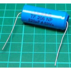 Capacitor, 220uF, 63V, Non Polarised