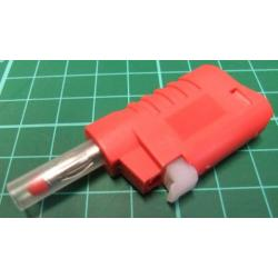 Banana Plug, 4mm, Stackable, Red