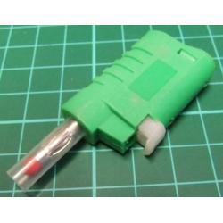 Banana Plug, 4mm, Stackable, Green