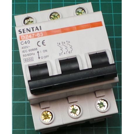 DIN MCB, 25A, Type C, 230V, Single Phase