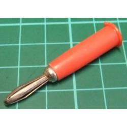 Banana Plug, 4mm, economy, Red