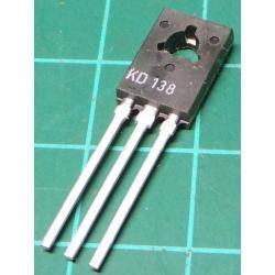 KD366A, PNP Transistor, 60V, 1.5A, 12.5W