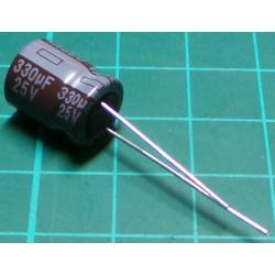 Capacitor, 330uF, 25V, Electrolytic