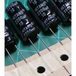 Capacitor, 2200uF, 10V, Electrolytic