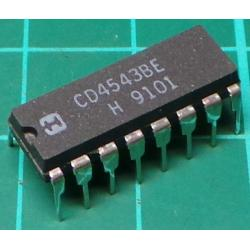 4543, CD4543, CMOS BCD to 7 Segment Driver for LCD