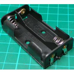 Battery Holder, 2 x AA / R6 / UM3, Solder Tags