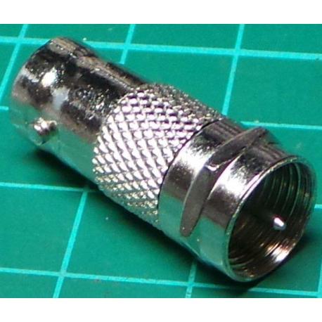 F Type Plug to BNC Socket, Adaptor