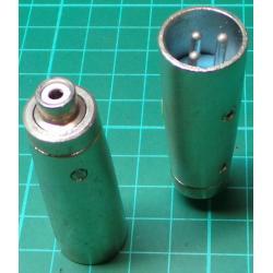 XLR Plug to RCA Female, Adaptor