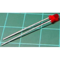 LED, Red, 3mm, 5mCd, 20mA, 2.25V