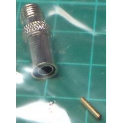 SMA Connector for 5mm cable (RG58/U), Female