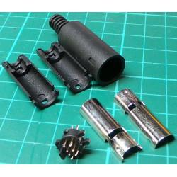 Mini Din Plug, 7 Pin