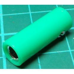 Banana Socket, 4mm, In Line, Green