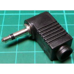 Jack Plug, 3.5mm, Right Angle, Mono, Plastic