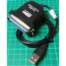 Centronics Parallel to USB Adaptor Cable, 0.5m