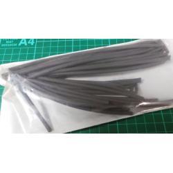 3.2mm / 1.6mm, Heatshrink, Black, Pack of 5 x 1.2 meters