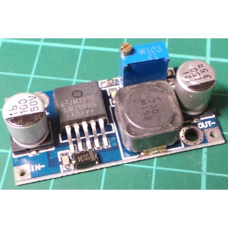 DC to DC Step Down Converter, 4.5-40V In, 1.5-35V Out, LM2596 Based