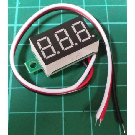 Panel Meter, Digital , 0-32V, Red