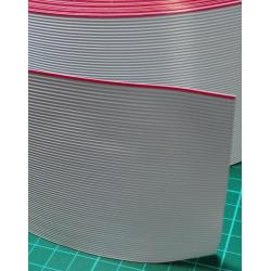Cable, 64 Core Ribbon, 28AWG, 0.09mm2, Stranded, PVC, 105deg, Black, 3M