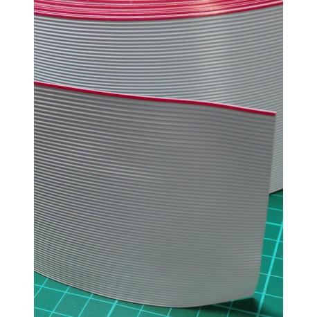 64 Core Ribbon, 28AWG, 0.09mm2, Stranded, PVC, 105deg, Black, 3M