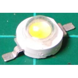 LED, White, 3W, 3.2-3.8V, 160-220 Lm, 140deg