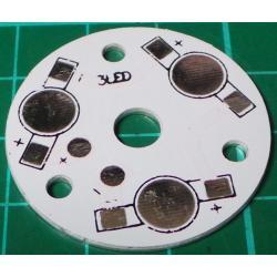 LED Heatsink, for 3 LED's, Aluminium, 35mm, for 1W / 3W / 5W LED's