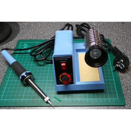 Soldering Station, temperature controlled, with stand and sponge,(European Plug)
