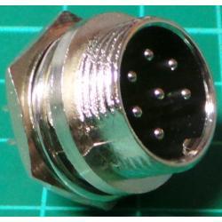 XLR, Male, 7 Pin, Panel Mount
