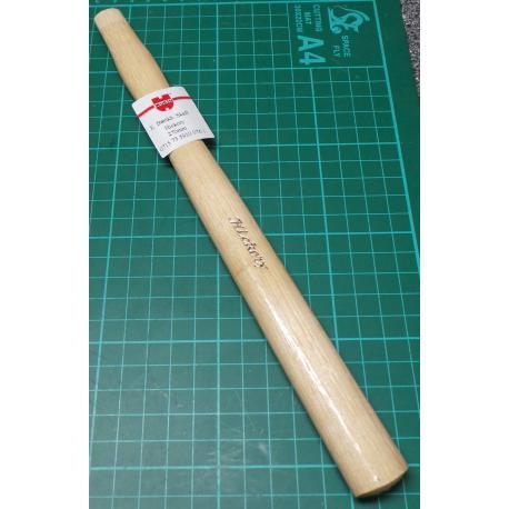 Hammer shaft, Hickory, 14mm x21mm x 310mm