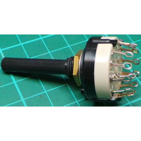 Rotary Switch, 1 Pole, 12 Position, 250V, 0.15A