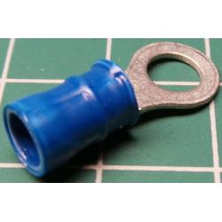 M5 Ring Terminal, Crimp, Blue