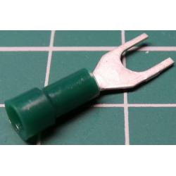 M4 Fork Terminal, Green (0.5mm2)