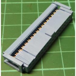 DIL IDC Female 34 Pin Connector, for Ribbon Cable, Blue