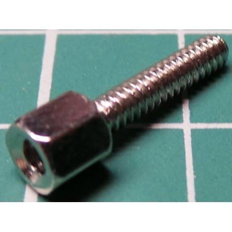 Plastic Standoff, M-M, 11mm board height, needs 4mm hole