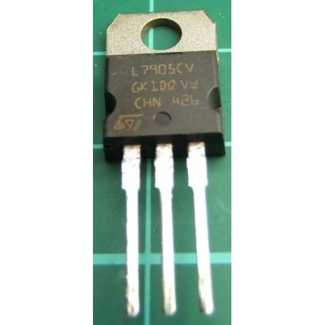 L7905CV, -5V, 1.5A Voltage Regulator