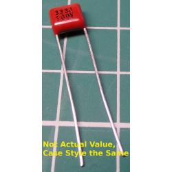 Capacitor, 68nF, 100V, Polyester Film, 5mm pitch