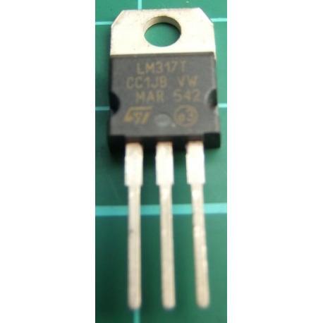 LM317T, 1.2-37V Adjustable, 1.5A Voltage Regulator