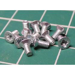 Screw, M2x4, Countersunk Head