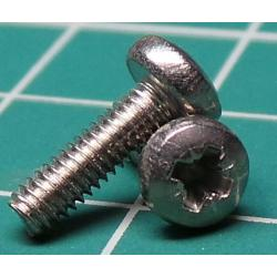 Screw, M2.5x9, Cheese Head, Pozi, Stainless Steel