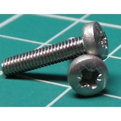 Screw, M2.5x12, Cheese Head, Pozi, Stainless Steel