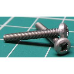 Screw, M2.5x19, Cheese Head, Pozi, Stainless Steel